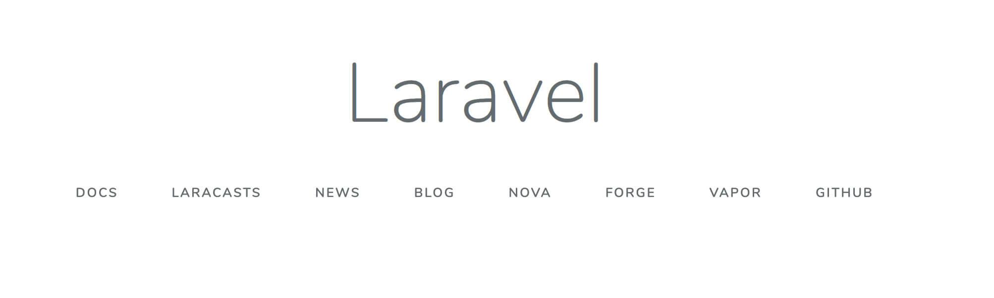 Laravelのトップ画面