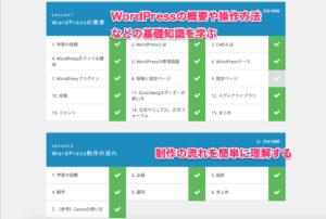 テックアカデミーのWordPressコースのカリキュラム内容