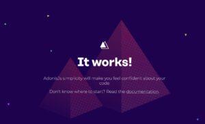 adonis.jsのトップページ
